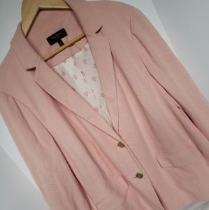 Talbots Women 18W Dusty Pink Blazer Jacket